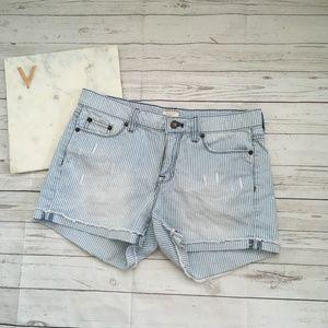 jcrew womens 25 cutoff denim shorts in railroad st